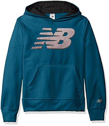 New Balance Big Boys' Athletic Hoodie, Castaway, (Blue Micro Performance Fleece)