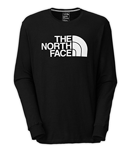 The North Face Men's Long-Sleeve Half Dome Tee, TNF Black/TNF White, 3X-Large (Past ()