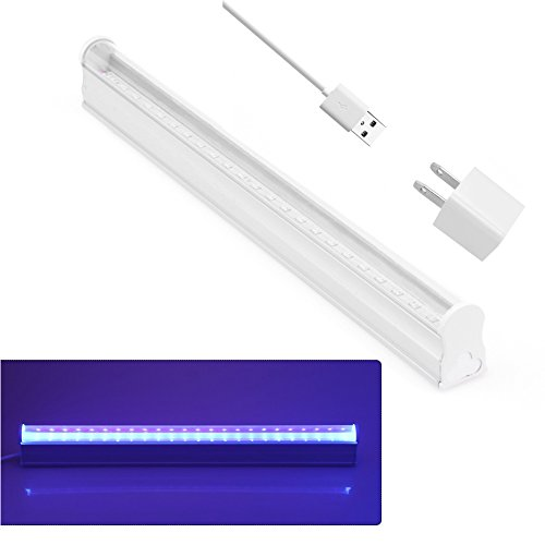 Abedoe USB Portable 6W LED Germicidal Ultraviolet Lamp UV Light Bar Air Fresh Sterilizing Lamp 395-400nm for DJ Party,Bathroom, Kitchen, Toilet, Bedroom, AC 100-265V