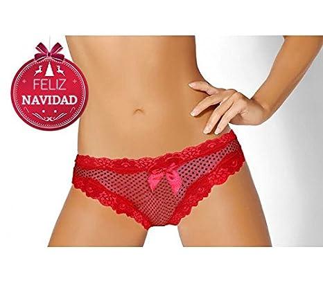Braguita de Nochevieja para la mujer COMET (color rojo) - Ropa interior femenina - S-M: Amazon.es: Hogar