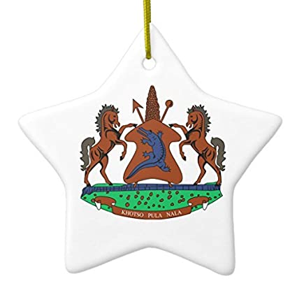 Amazon Com Christmas Gifts Lesotho Coat Of Arms Ceramic Ornament
