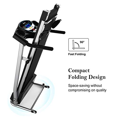 Merax Fitness Folding Treadmill - Electric Motorized Exercise Machine for Running & Walking [Easy Assembly] (Classic Black) by Merax (Image #2)