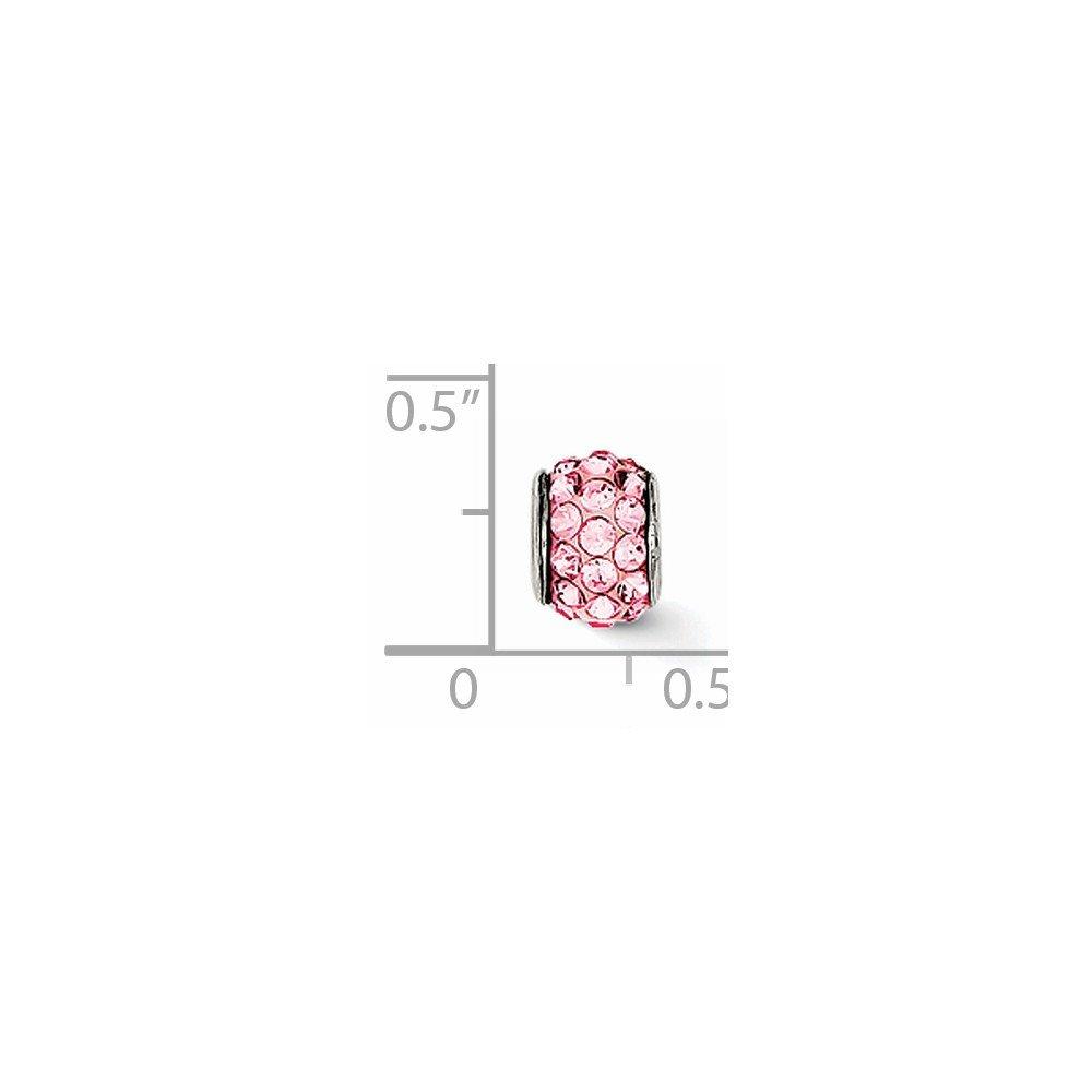 6mm x 8mm Jewel Tie 925 Sterling Silver July Stellux Crystal Pendant