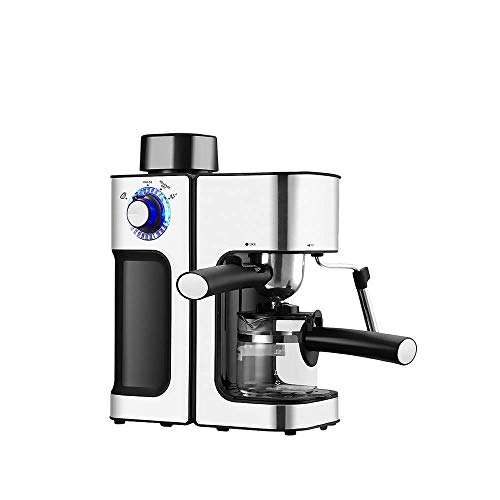 ROLL Espresso Machine With Milk Frother, Espresso Maker, Household Coffee Maker With Milk Steamer, Automatic Insulatio, 5 Bar Pump, Stainless Steel