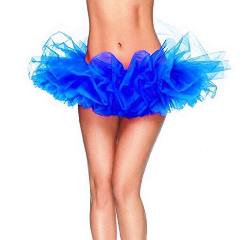 Vestito Blu Reale Deley Gonna Partito Tutu Donne Organza Ballo Dal Del Principessa Clubwear Mini 4RHBR1Fqw
