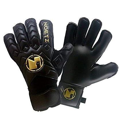 NoetZ Soccer Kids Youth Adult Goalie Goalkeeper Gloves Balck Negro, Finger Protection New4+1