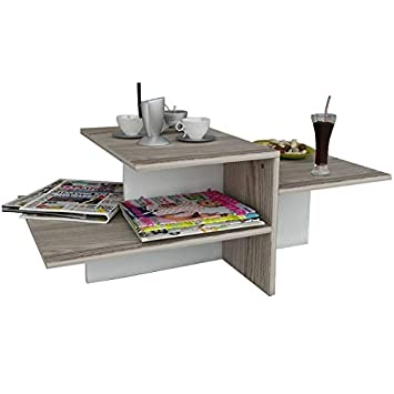 Tavolino Da Caff.Whisper Tavolino Basso Da Salotto Materiale In Legno Tavolino Da Divano Tavolino Da Caffe Moderno In Un Design Alla Moda Con Mensola Bianco