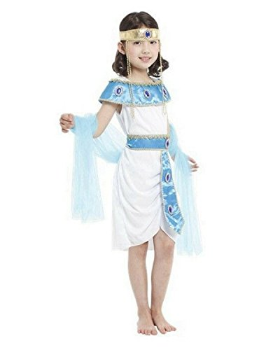 Rubber Johnnies  Cleopatra Costume, Kids, Egyptian Queen, Princess, 3 Sizes (4-6 Years) -