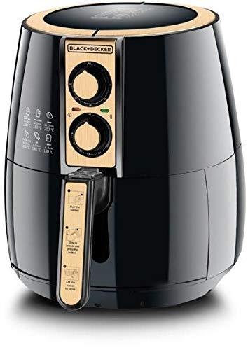 Black+Decker Air Fryer Performance Range Aero Fry, Black/Gold, 4 litres, Af300-B5