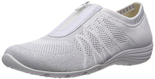 Skechers Sport Women's Unity Transcend Fashion Sneaker White/Silver 2014 newest online CmULuzh
