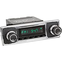 RetroSound HB-308-409-39-78 Hermosa Direct-Fit Radio for Classic Vehicle (Black Face and Buttons and Black/Chrome Faceplate)
