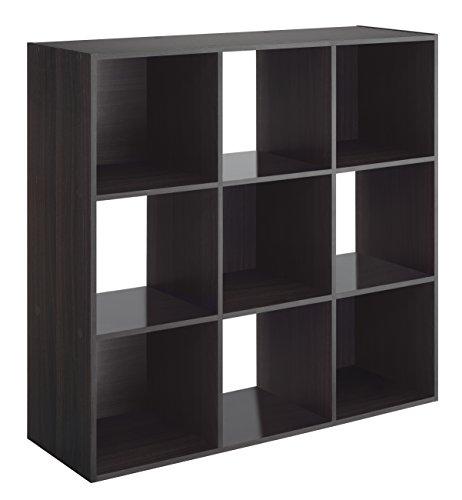 Whitmor 9 Cube Organizer, Espresso