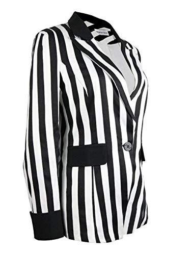 Button Donna Stripe Bavero Tailleur Schwarz Giubotto Blazer Giacca Alta Casual Di Qualità Outerwear Manica Lunga Business Autunno Da XgzBHrgq
