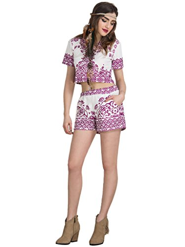 Choies Womens Print Shorts Outfit