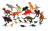 "Forest & Twelfth Kids Dinosaur Family Super Toy Pack 24 Pieces Realistic Dinosaur Figures Including T-Rex, Triceratops, Stegosaurus, and More – Large Sized Toys 6 – 8"", Small Sized Toys 3"""