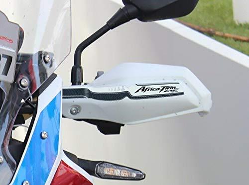 2 ADESIVI moto in GEL RESINA 3D per PARAMANI compatibile con HONDA AFRICA TWIN colore nero