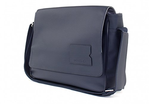 LACOSTE Men's Classic Messenger Bag Black Iris