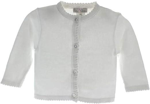 Toddler /& 4-6X Petit Ami Girls Cardigan Sweater White Infant