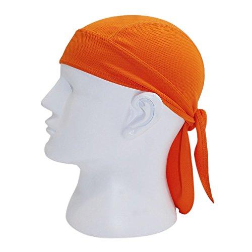 Orange Skull Cap (Chen Motorcycle Biker Windproof Cycling Skull Cap Hat Sweatband Protex Outdoor Head Wraps (Orange))