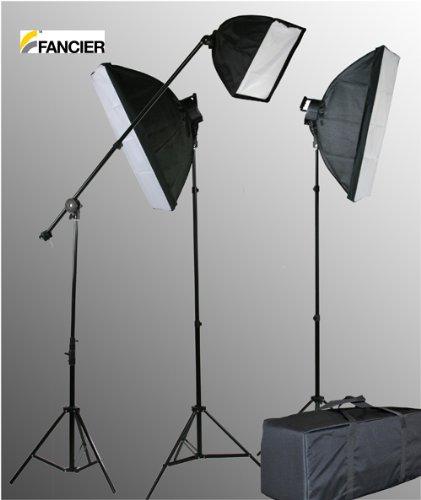 Head Studio Kit (Fancierstudio 2800 Watt Lighting Kit With Boom Arm Hairlight Softbox Lighting Kit By Fancierstudio)