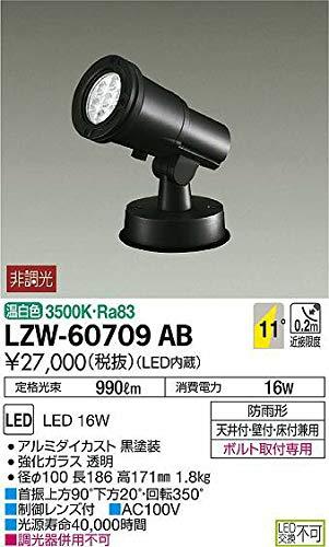 DAIKO LEDアウトドアスポットライト (LED内蔵) 温白色 3500K LZW60709AB   B07K2RR7TH