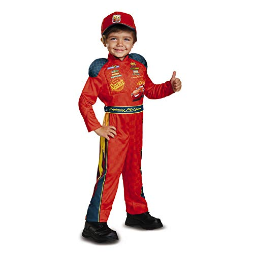 Cars 3 Lightning Mcqueen Classic Toddler Costume, Red,