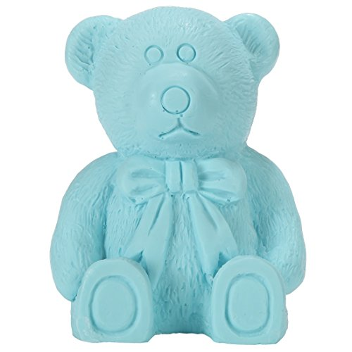 Lily's Home Teddy Bear Baby Shower Soaps - Unique Premium Handmade Soap. The Perfect Baby Shower Gifts (Blue)