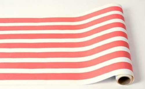 Red Classic Stripe Paper Table Runner 25ft American -