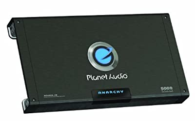 Planet Audio AC5000.1D ANARCHY 5000-watts Monoblock Class D 1 Channel 1 Ohm Stable Amplifier