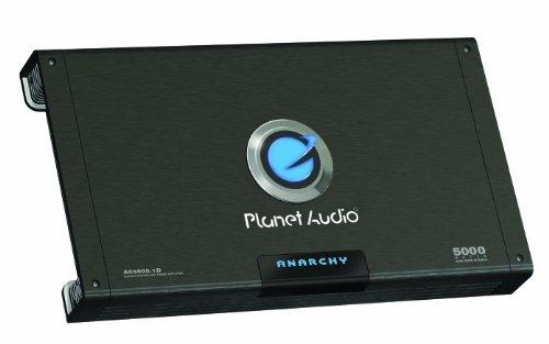 Planet Audio AC5000.1D ANARCHY 5000-watts Monoblock Class D 1 Channel 1 Ohm Stable Amplifier