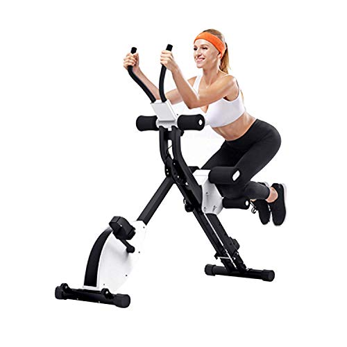 IPO 3-in-1 Stationary Bike Folding Exercise Bikes Pedal Exerciser Indoor Cycle Bike Recumbent Bike Eliptical Exercise Machine for Home Office Cardio Training with Electronic Display