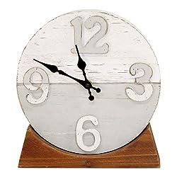 Stratton Home Décor Stratton Home Decor Derrick Two Tone Wood Table Clock, Multi