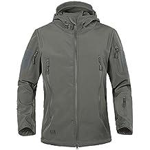 Army Camouflage Coat Military Jacket Waterproof Windbreaker Raincoat Clothes Army Jacket Men Jackets And Coats GRAY XXL