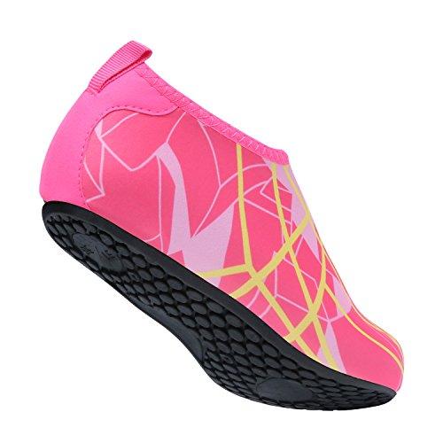 Zapatos Swim de Unisex Yoga descalza Zapatos Agua Beach Dive Piel L Melocotón Run para Surf de Run wBqOYRIX