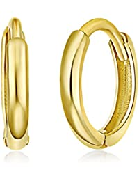4dbfc38d9 14k Yellow or White Gold 1.5mm Thickness Huggie Earrings (8 x 8 mm)