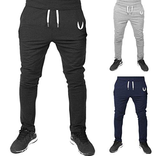 haoricu Men Sweatpants, Clearance Men Casual Sportswear Elastic Fitness Pants Workout Running Gym Trousers – DiZiSports Store