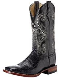 Ferrini Men's Print Belly Alligator S-Toe Western Boot