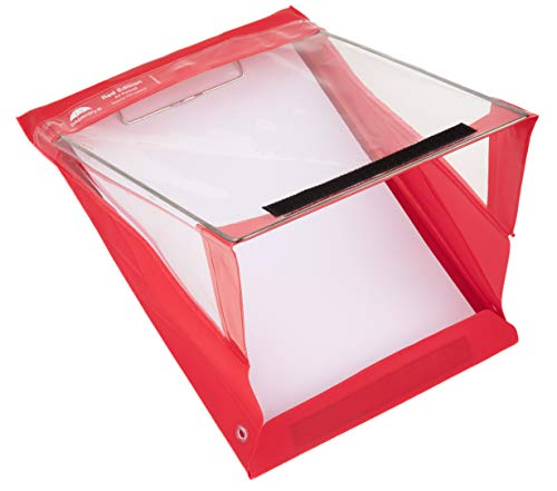 Paperdry Red Letter Portrait Waterproof Clipboard - Premium PVC Material [18-Month Warranty] (Letter Portrait)