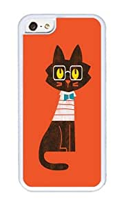 Apple Iphone 5C Case,WENJORS Uncommon Fitz Preppy cat Soft Case Protective Shell Cell Phone Cover For Apple Iphone 5C - TPU White