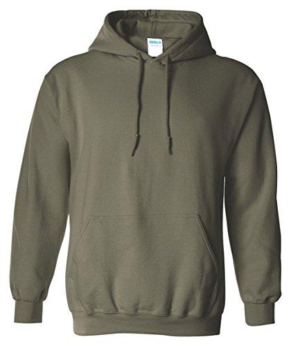 Gildan Mens Heavy Blend Hooded Sweatshir - Army Military Hooded Sweatshirt Shopping Results