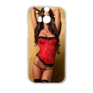 HTC One M8 Cell Phone Case White Sexy Red and Black VIU173709