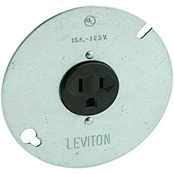 Leviton 5059 15 Amp 125 Volt 3 Wire Round Type Single