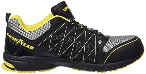 Goodyear Gyshu1502 - Zapatillas de seguridad Hombre Negro (Black/Yellow)