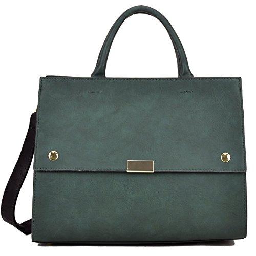 Green Satchel Handbag - 8