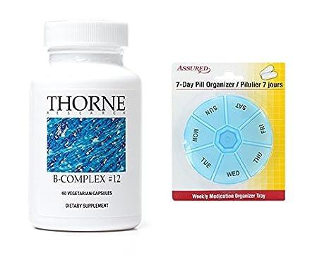 Amazon.com: Thorne Research complejo B #12 - suplemento dietético con B12 y ácido fólico - 60 cápsulas: Health & Personal Care