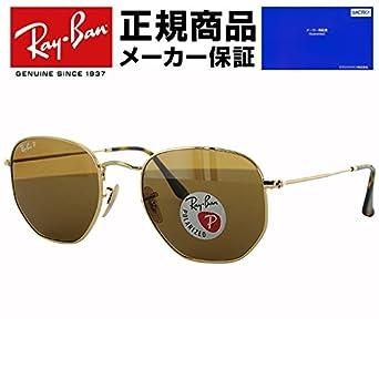 a1b11f34c3443 Ray-Ban Runde Sonnenbrille Gold-Polarized Brown Classic B-15 54mm HEXAGONAL  FLAT