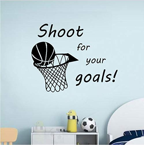 luludsoo Shoot For Your Goals Baloncesto Cita De Vinilo Tatuajes ...