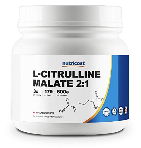 Nutricost L-Citrulline Malate 2:1 (600 Grams) (Strawberry Kiwi)