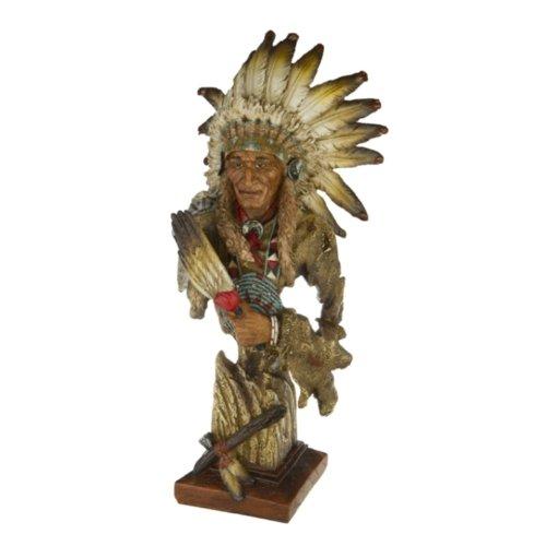 Indianer Figur Häuptling Büste Deko Figur