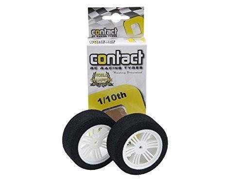 Contact RC 30mm 1/10 Nitro Sedan Foam Rear Tires (2) (White) (35 Shore)